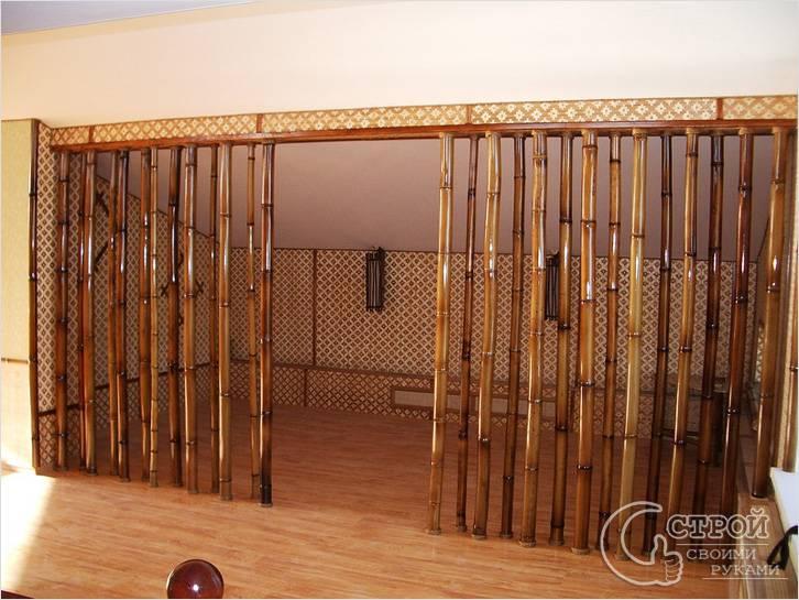 Расширение проема и декор бамбуком