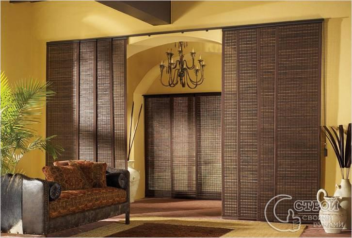 Раздвижные бамбуковые перегородки