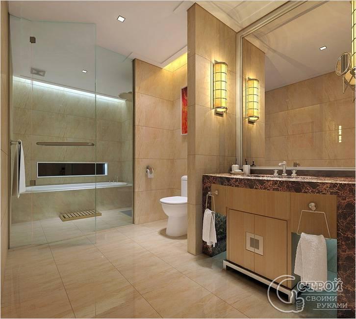Зонирование ванной