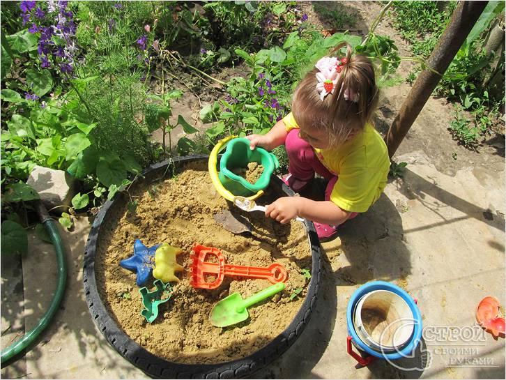 Детские песочницы из шин своими руками фото