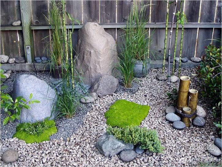 Дизайн сада своими руками с камнями фото