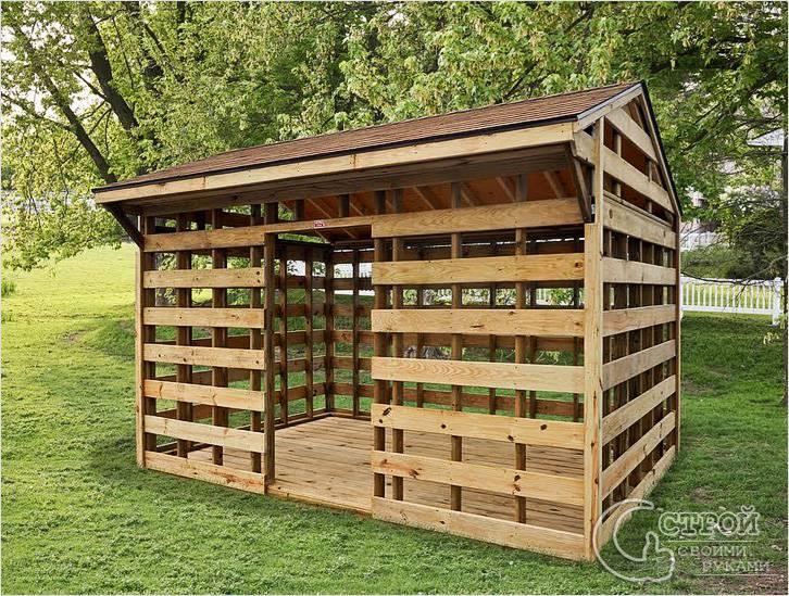 Домик для хранения дров
