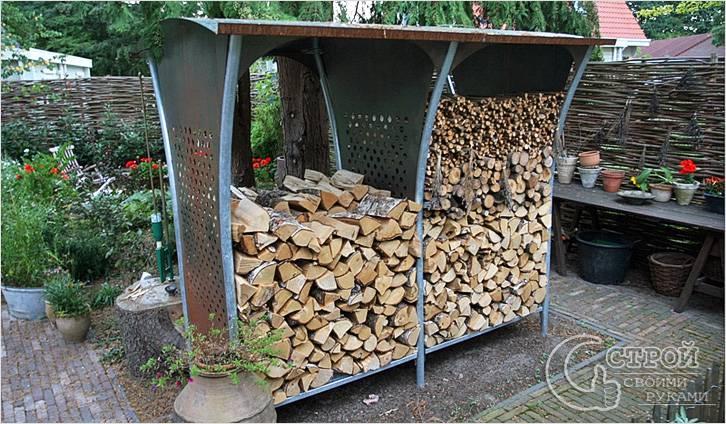 Сделать дровяник своими руками фото фото 372