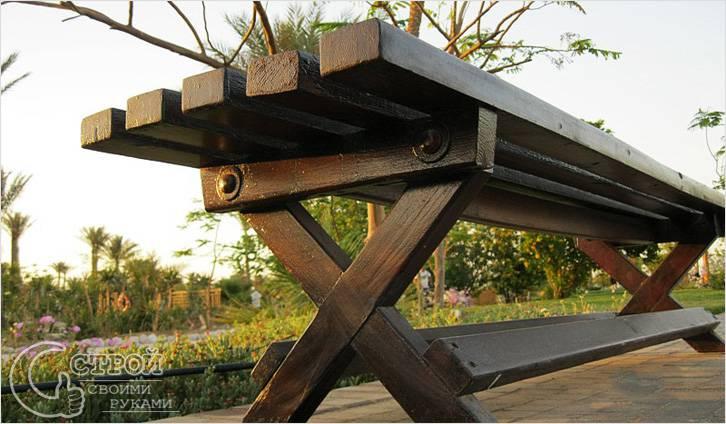 Скамейки для дачи своими руками — инструкции по изготовлению ( фото)