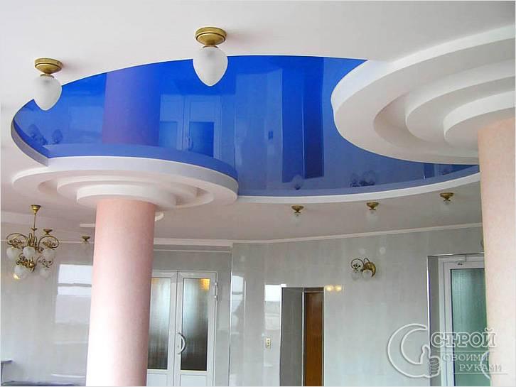 Потолок из гипсокартона фигурные своими руками фото
