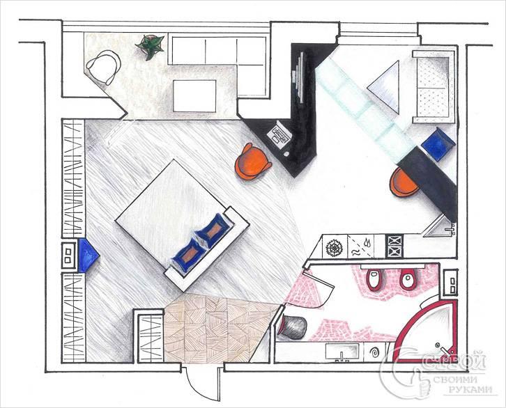 Дизайн проект квартиры-студии
