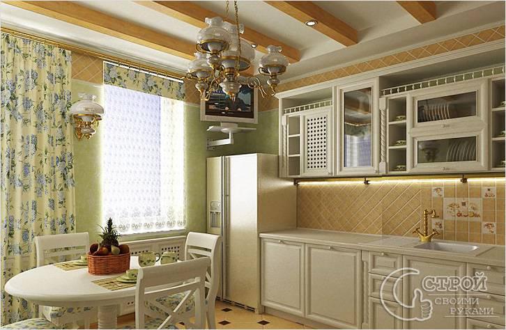 Кухня наполнена воздухом и светом