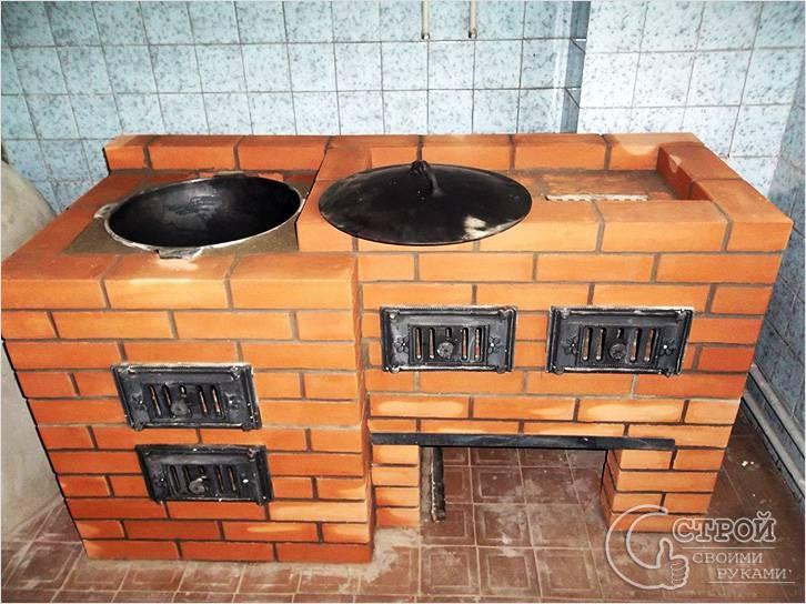 Как из кирпича сделать печь для казана