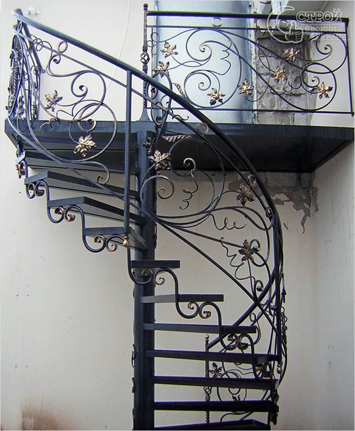 Как сделать винтовую лестницу из металла