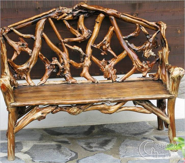 Необычная декоративная садовая мебель