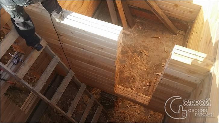 Строительство перегородки в бане из бруса