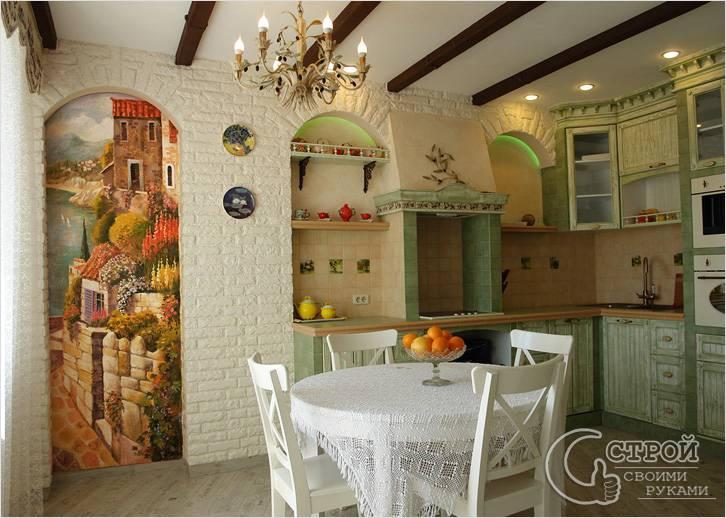 Прованс кухня в стиле прованс фото интерьер