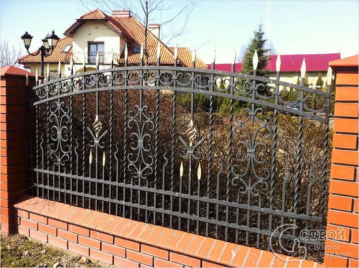 Забор, изготовленный методом холодной ковки