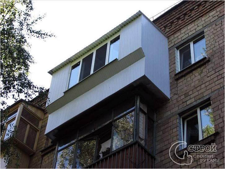 Балкон с выносом своими руками - увеличение балкона (+фото).