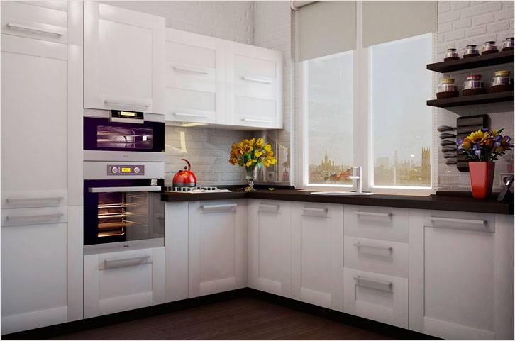 Белоснежная маленькая кухня