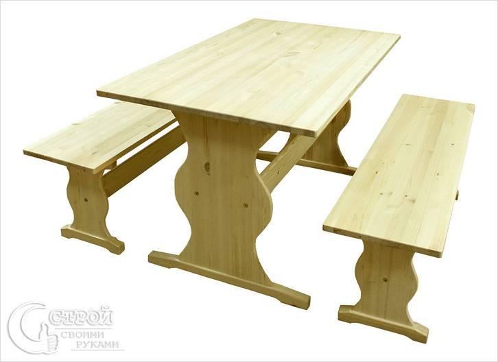 Дачный стол из дерева