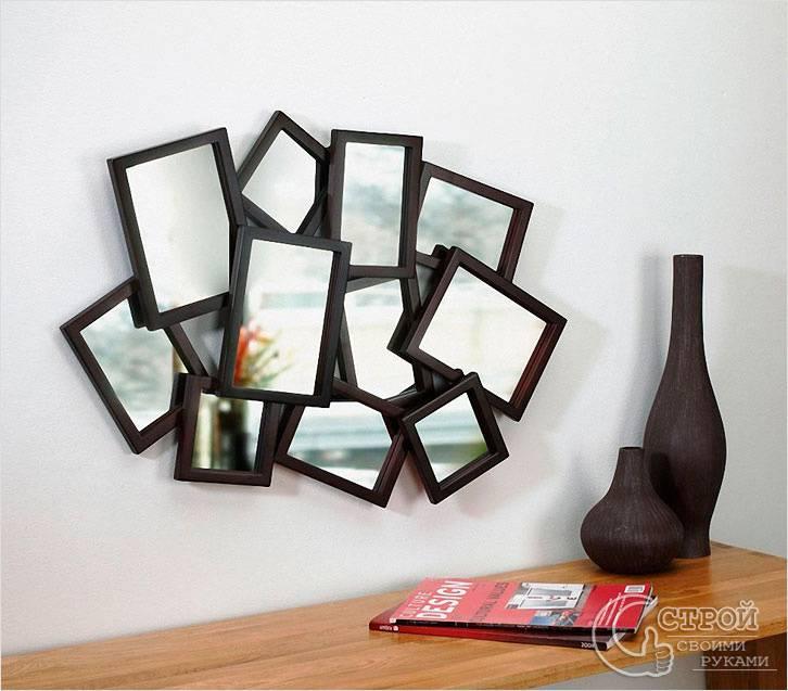 Декор стен из зеркал