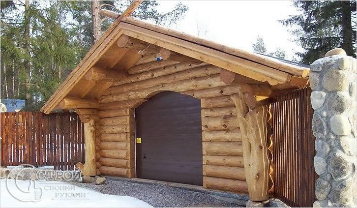 Деревянный дом с гаражом своими руками 702