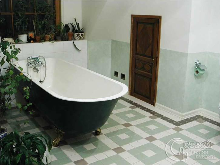 Эмалированная чугунная ванна