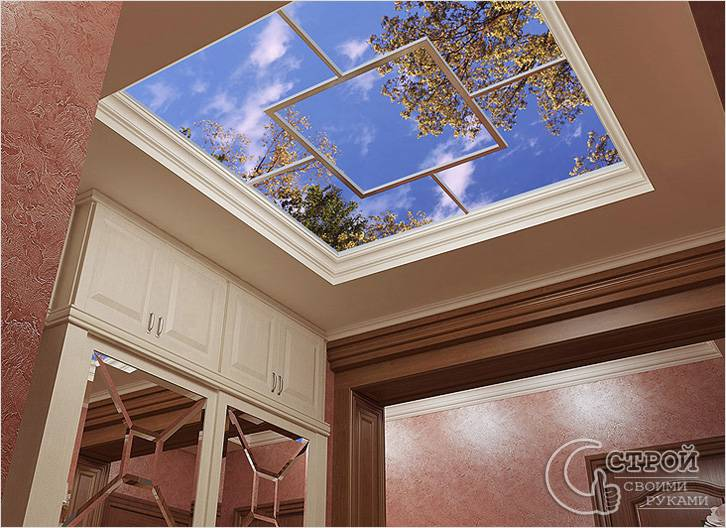 Фальш-окно потолочное