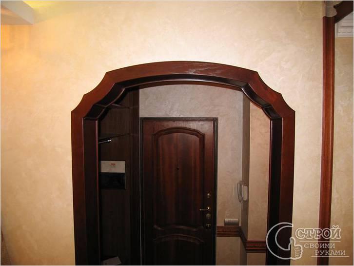 Фигурная деревянная арка