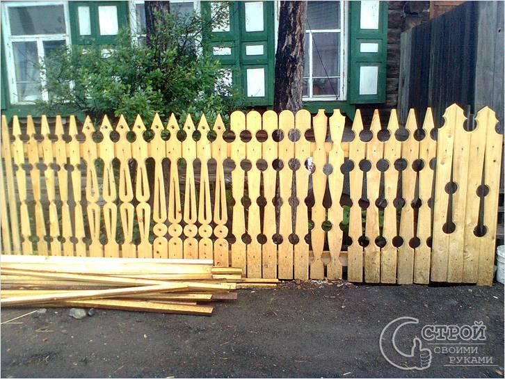 Резной забор из дерева своими руками шаблоны