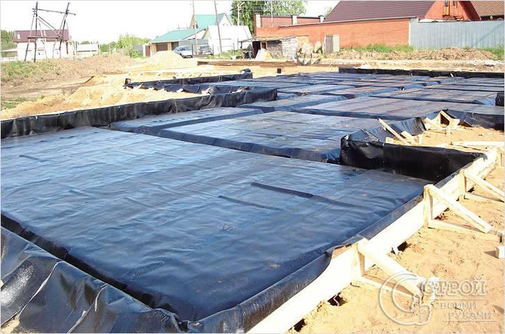 Гидроизоляция монолитного плитного фундамента