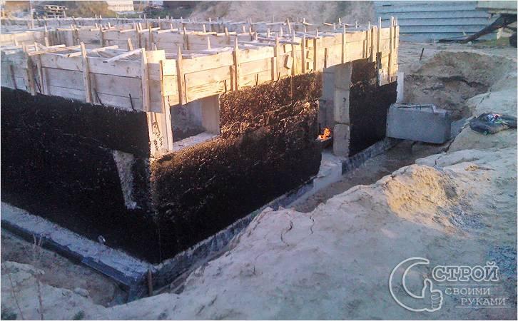 Требуемые материалы гидроизоляция подвалов и цокольных этажей изолента резина мастика 50мм 3м scotch 2228