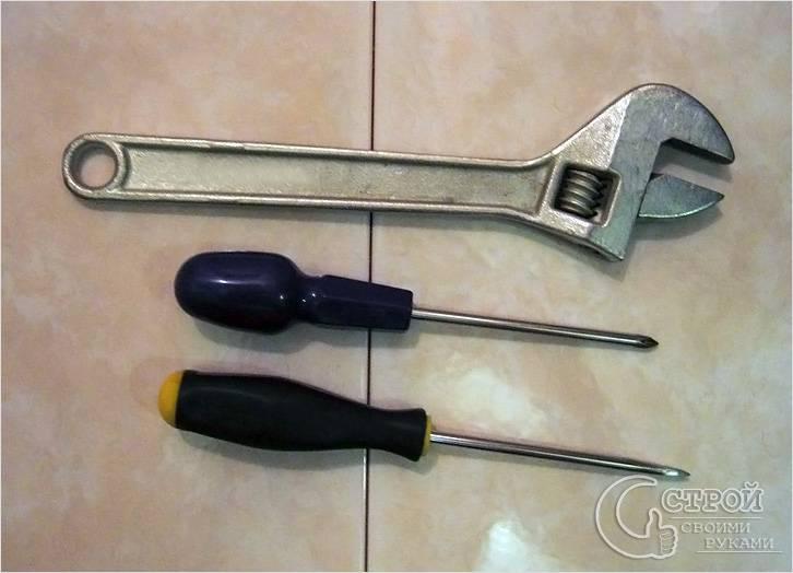 Инструменты для ремонта смесителя