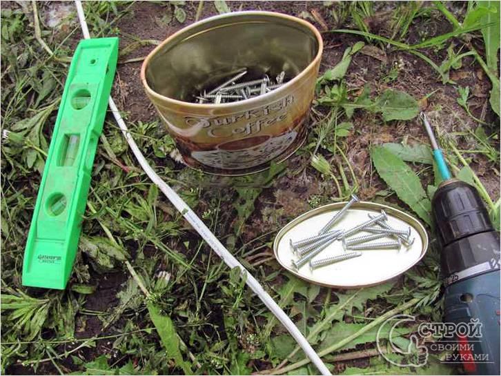 Инструменты для строительства деревянного забора