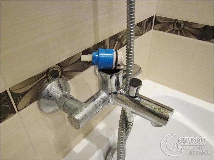 Как разобрать смеситель в ванной - фото, схемы