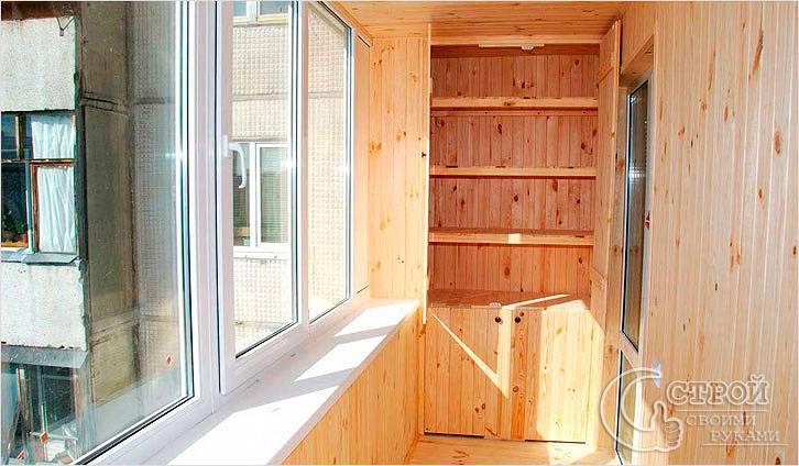 Шкаф балкона своими руками