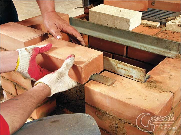 Изготовить вФото камина из кирпича своими руками