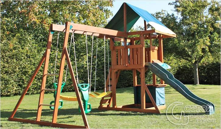 Домики на детские площадки фото
