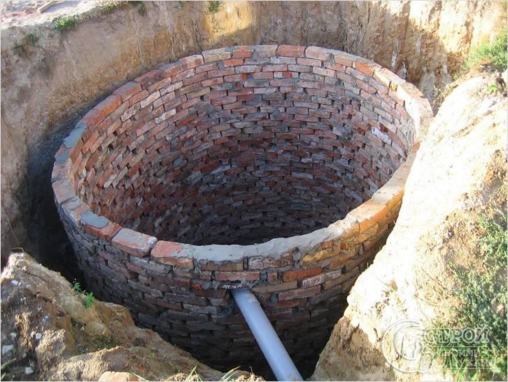 Кирпичная сливная яма