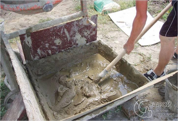 Классический цементный раствор