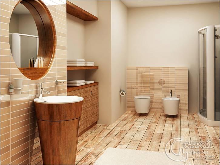 Комбинированная отделка ванной
