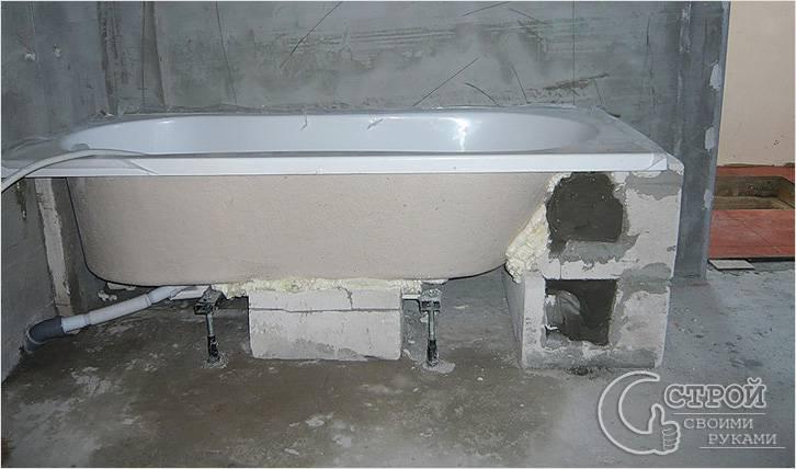 Комбинированная установка акриловой ванны