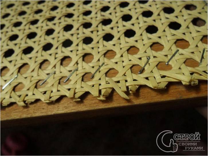 Крепление плетеной сетки