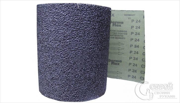 Крупнозернистая наждачная бумага