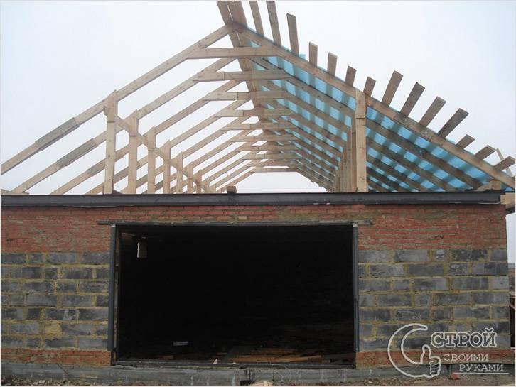 Односкатную крышу на гараж своими руками