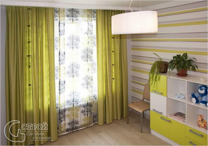 Легкие декорированные шторы