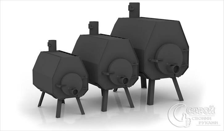 Металлическая печь-калорифер