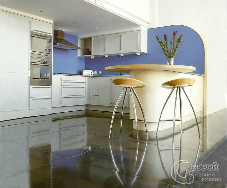 Металлические полы в кухне