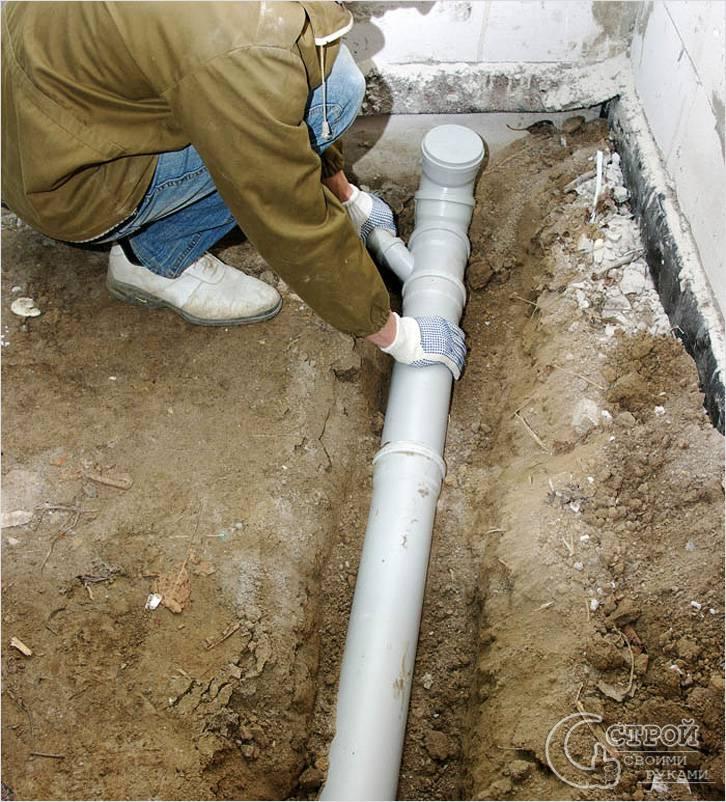 Прокладка наружней канализации в частном доме своими  227