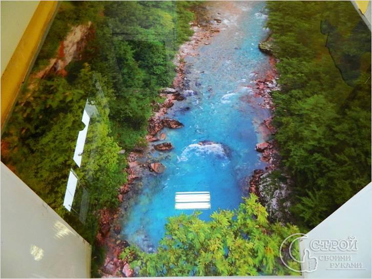 Наливной пол 3d — пейзаж