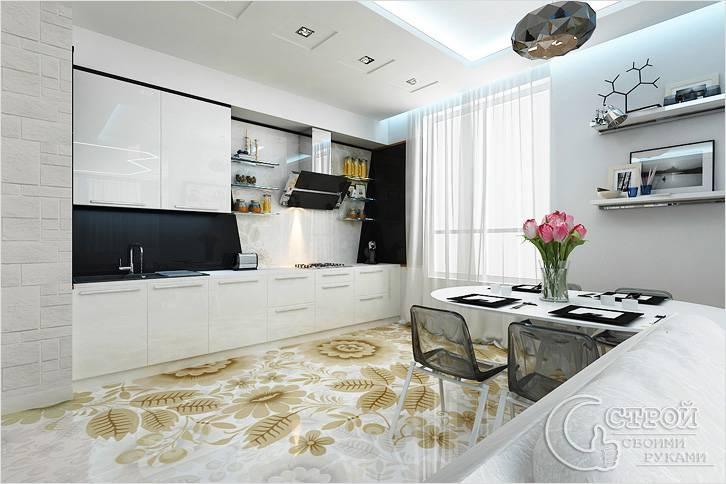 Наливной пол в кухне
