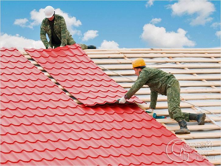 Фото как покрыть крышу металлочерепицей своими руками