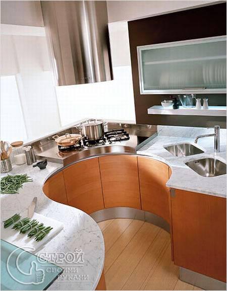 Необычные дизайн для маленькой кухни