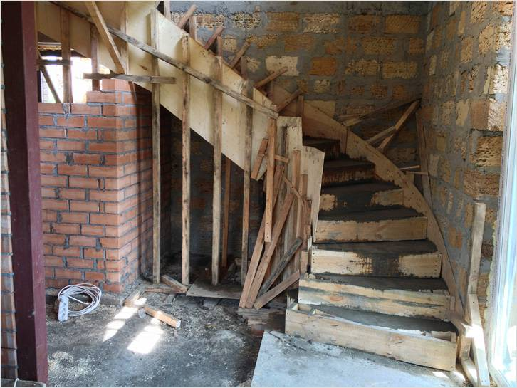 Чертеж Монолитной Входной Лестницы